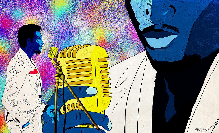 Art Of Soul Music Drawing - The Soul Singer by Kenal Louis