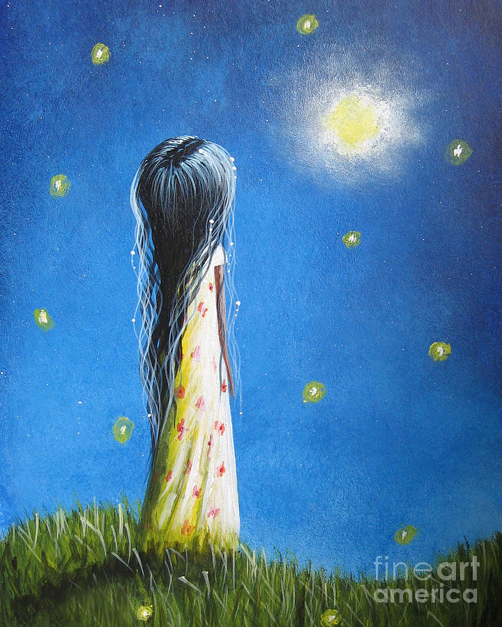 Girlie Painting - The Sound Of Light By Shawna Erback by Shawna Erback