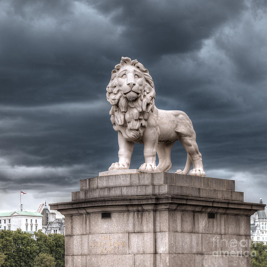 Lion Photograph - The South Bank Lion by Chris Blake