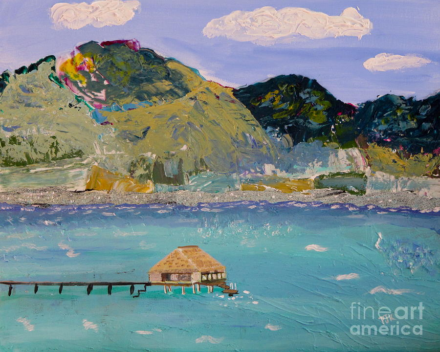 Mountains Painting - The South Seas by Phyllis Kaltenbach