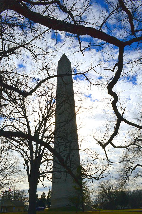 Monument Silhouette Photograph - The South Shall Not Be Forgotten by Stacie Siemsen