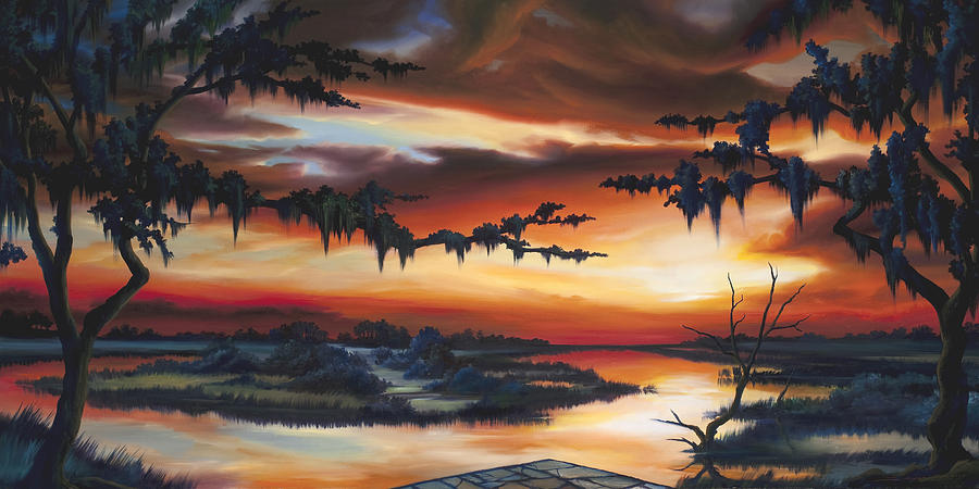 Marsh Painting - The Southern Marsh by James Christopher Hill