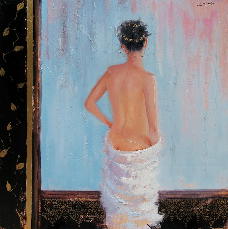 Spa Painting - The Spa Two by Laura Lee Zanghetti