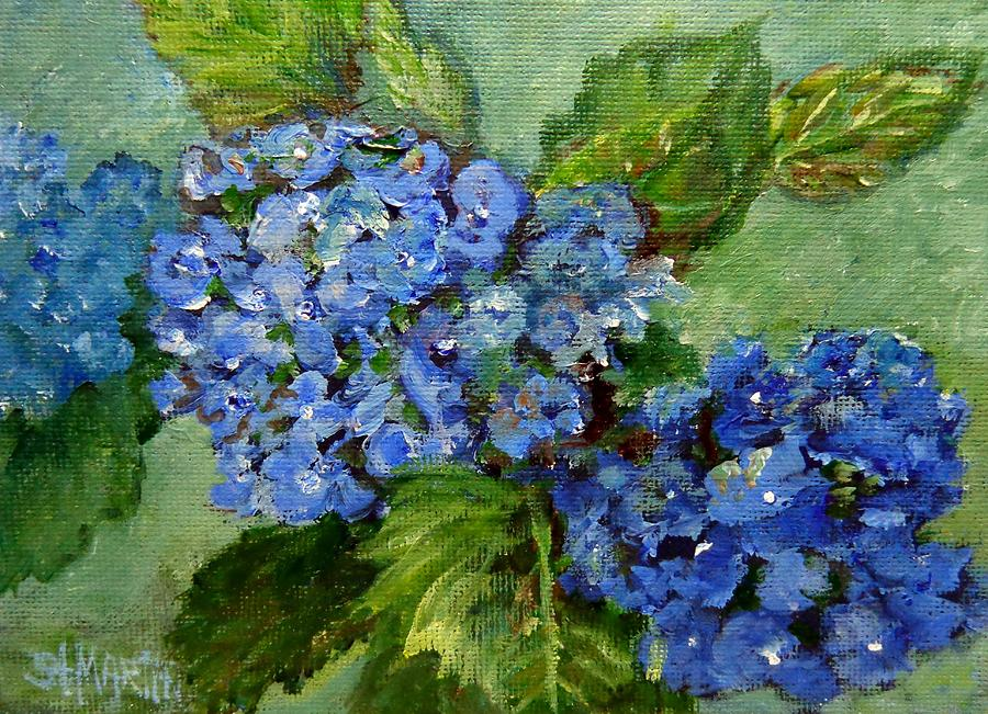 Blue Hydrangea Painting - The Special Gift by Annie St Martin