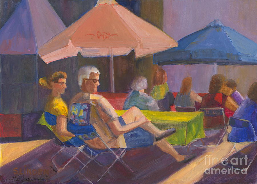 People Painting - The Spectators by Sandy Linden