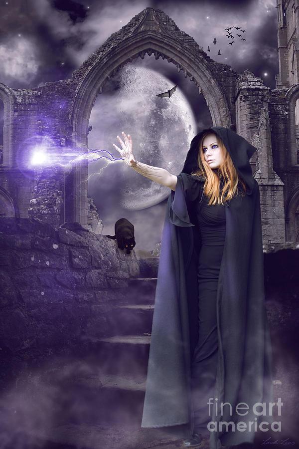 Halloween Digital Art - The Spell Is Cast by Linda Lees