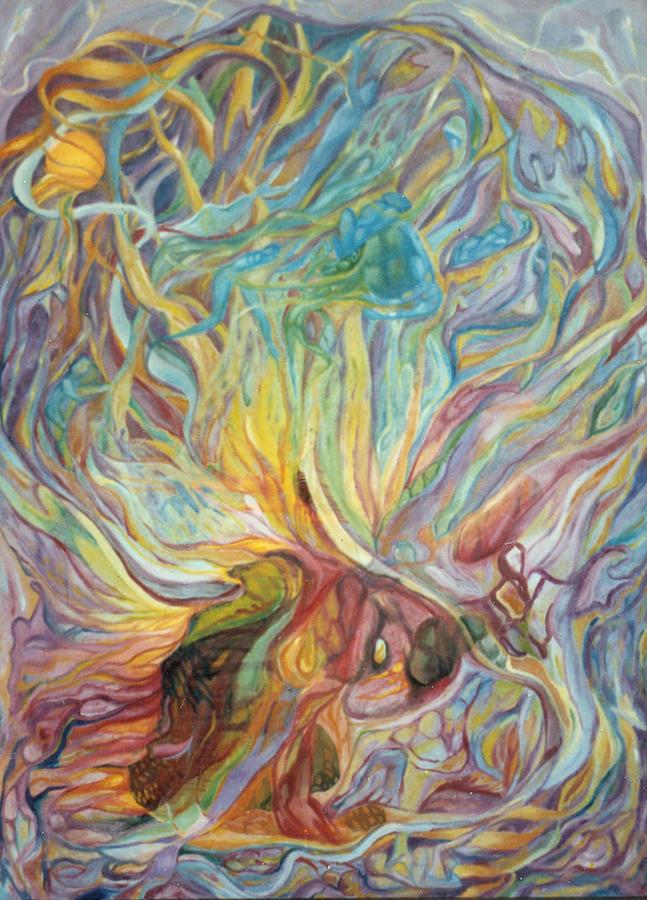 Symbolist Painting - The Sphere Of The Shekinah Sun by Daniel Gautier