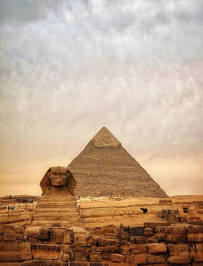 The Sphinx And Pyramid Of Chephren Photograph by Marie-louise Mandl / Eyeem