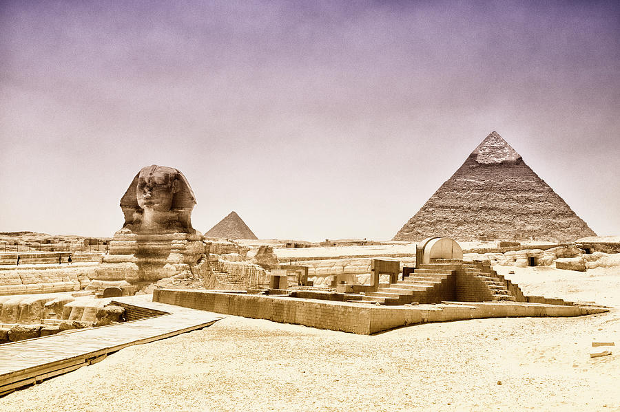 The Sphinx In Front Of The Pyramids Photograph by Audun Bakke Andersen