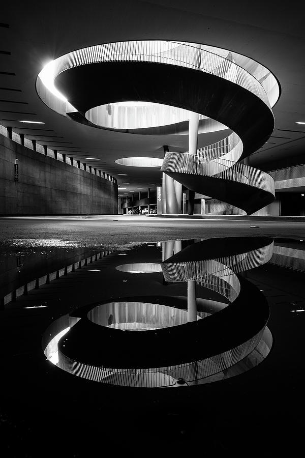Bw Photograph - The Spiral Of Time! by Luca Vescera