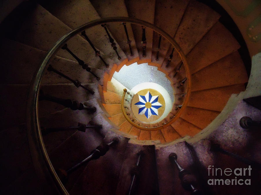 Stairs Photograph - The Spiral Staircase Of Villa Vizcaya by Mike Nellums