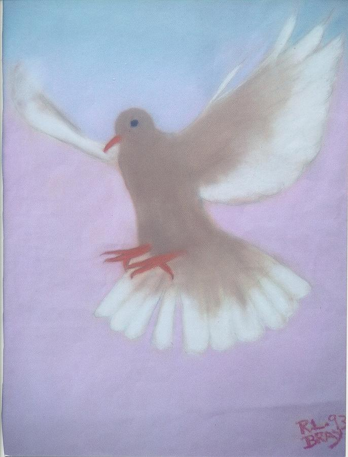 The Spirit Descendedlike A Dove. Painting by Robert Bray