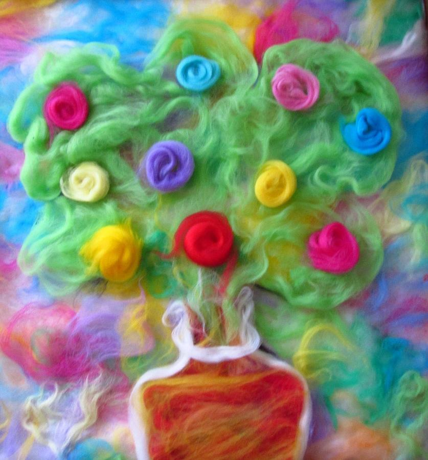 Needle Felting Tapestry - Textile - The Spirit Of Cider by Natalia Levis-Fox