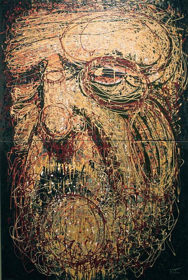 Portrait Painting - The Spirit Of Genius by Kate Tesch