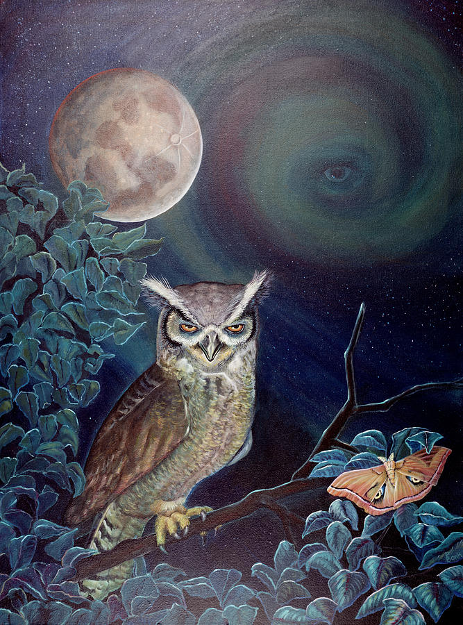 Wildlife Painting - The Spirit Of The Night by Peter Bonk