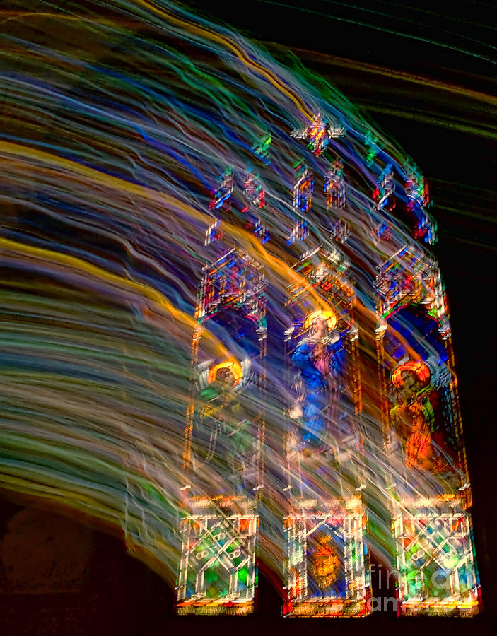 Glass Photograph - The Spirit Of The Saints by Kathleen K Parker