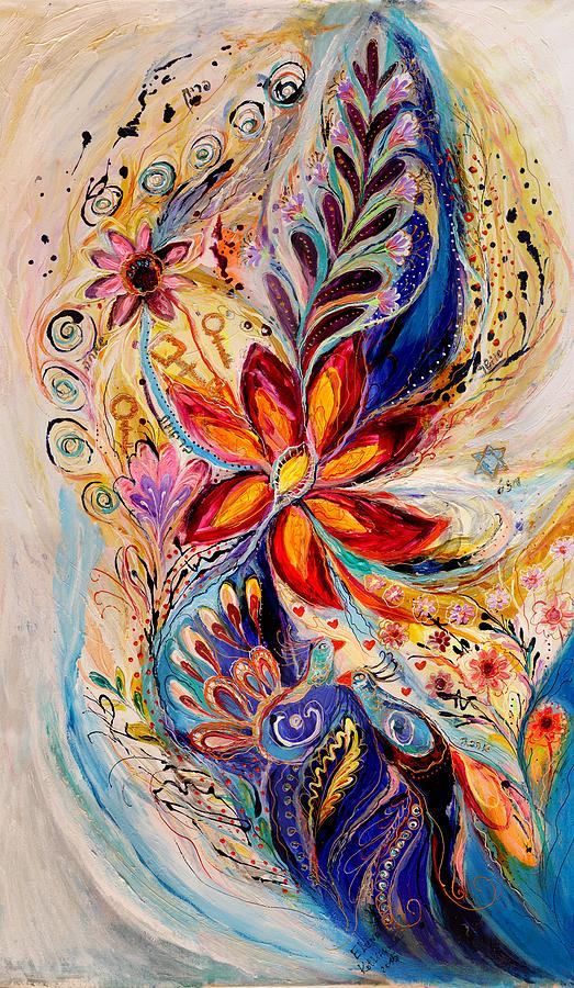 Judaica Store Painting - The Splash Of Life 5 by Elena Kotliarker