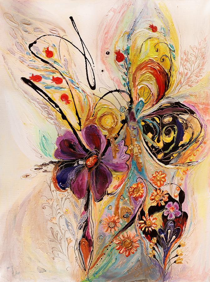 Judaica Store Painting - The Splash Of Life Series No 2 by Elena Kotliarker