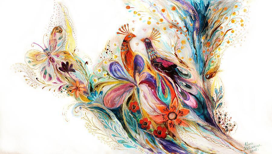 Judaica Store Painting - The Splash Of Life Series Pure White No 1 by Elena Kotliarker