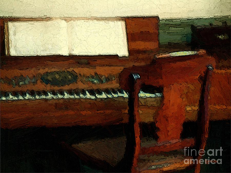Colonial Painting - The Square Piano by RC DeWinter