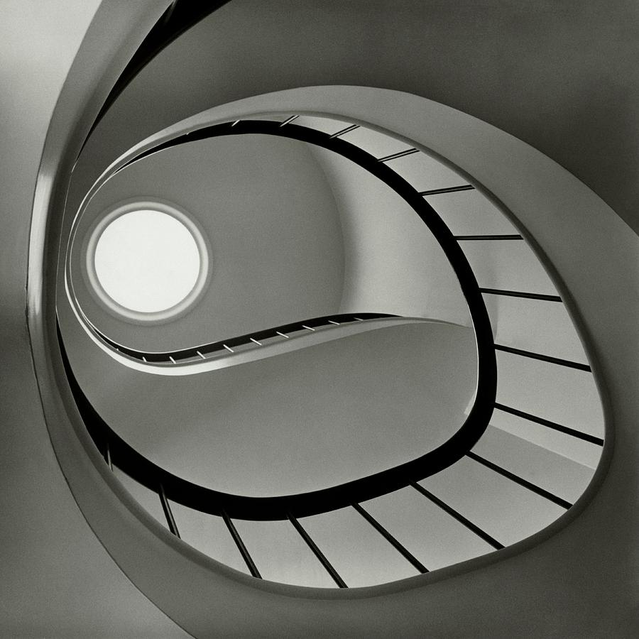 San Francisco Photograph - The Staircase In Mr. And Mrs. Albert by Fred Lyon