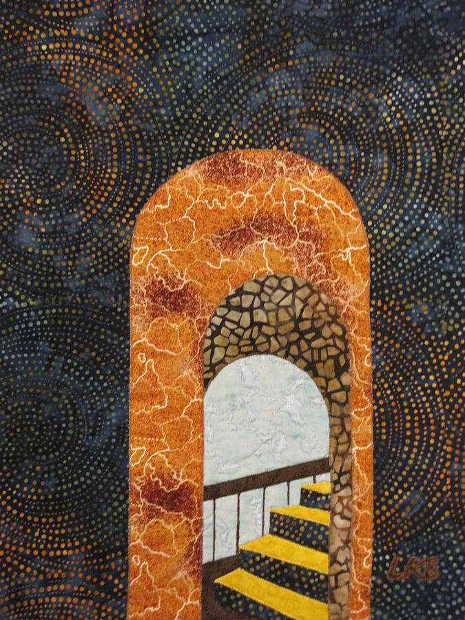 Arches Tapestries - Textiles Tapestry - Textile - The Staircase by Lynda K Boardman