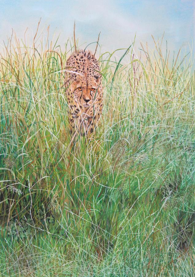 Big Cat Painting - The Stalker by John Hebb