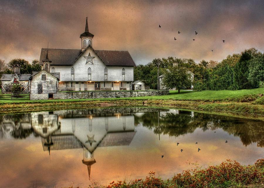 Farm Photograph - The Star Barn by Lori Deiter