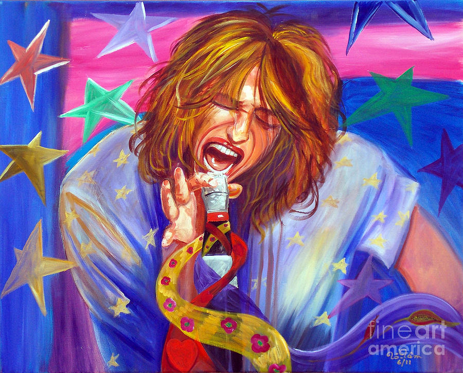Steven Tyler Painting - The Star Is Born by To-Tam Gerwe