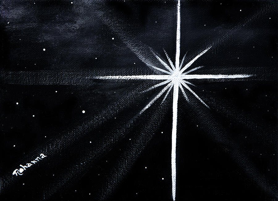 Night Painting - The Star by Judy M Watts-Rohanna