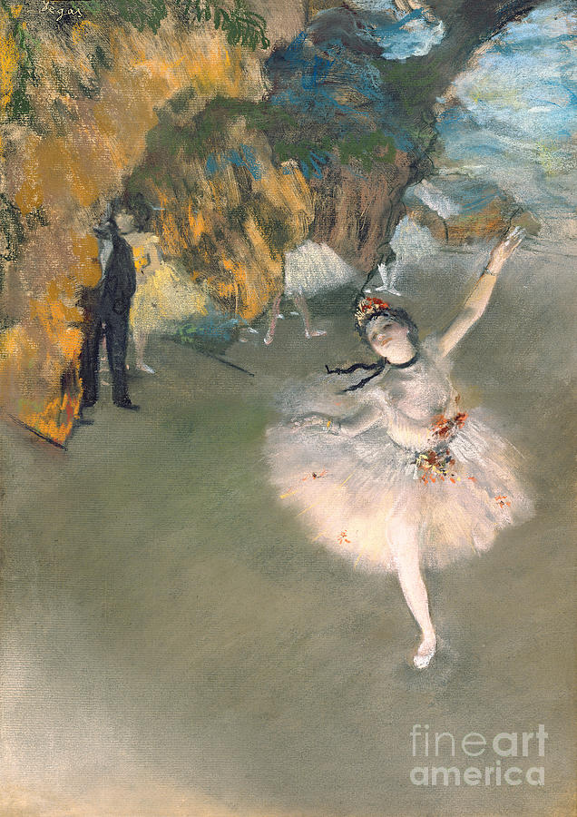 Impressionism Painting - The Star Or Dancer On The Stage by Edgar Degas