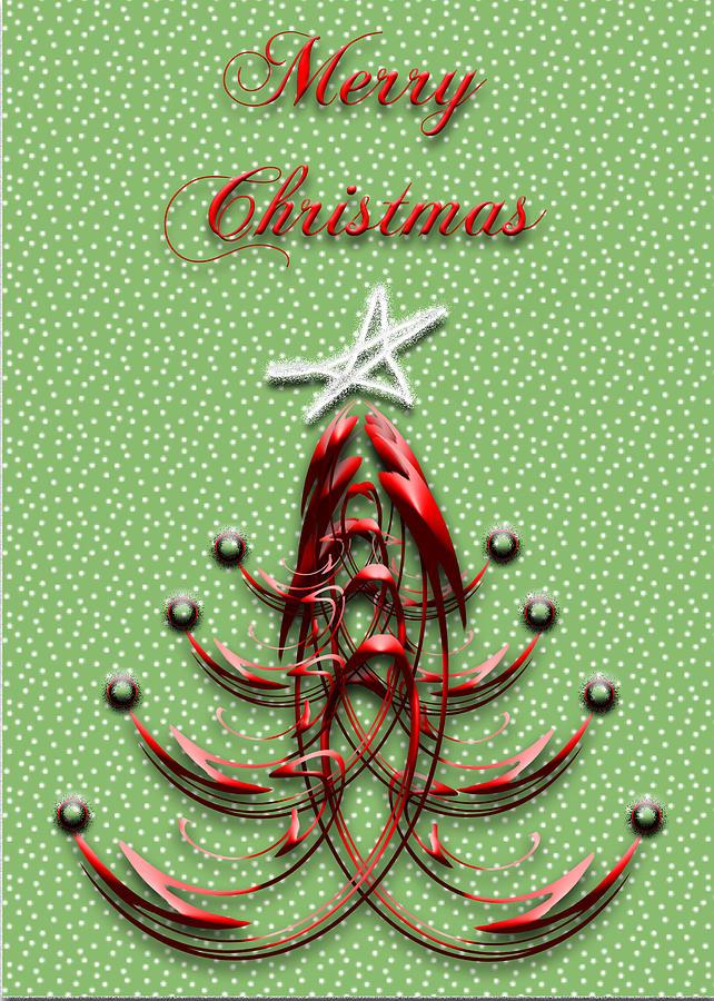 Christmas Tree Digital Art - The Star Shines Bright by Carolyn Marshall