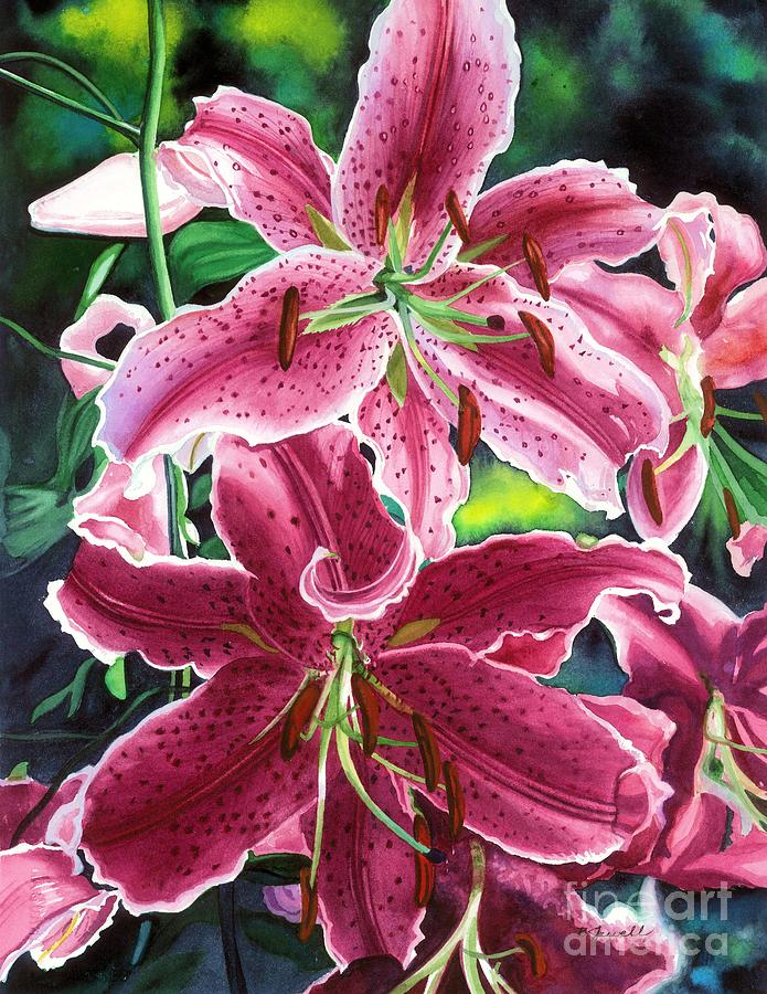 Flowers Painting - The Stargazers by Barbara Jewell