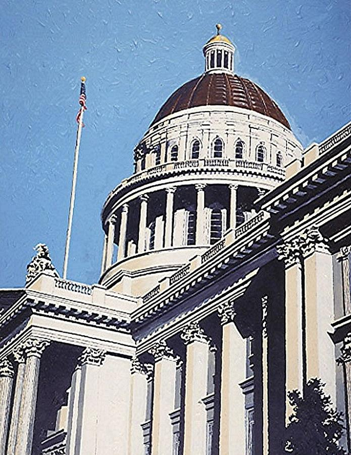 Sacramento Painting - The State Capitol by Paul Guyer