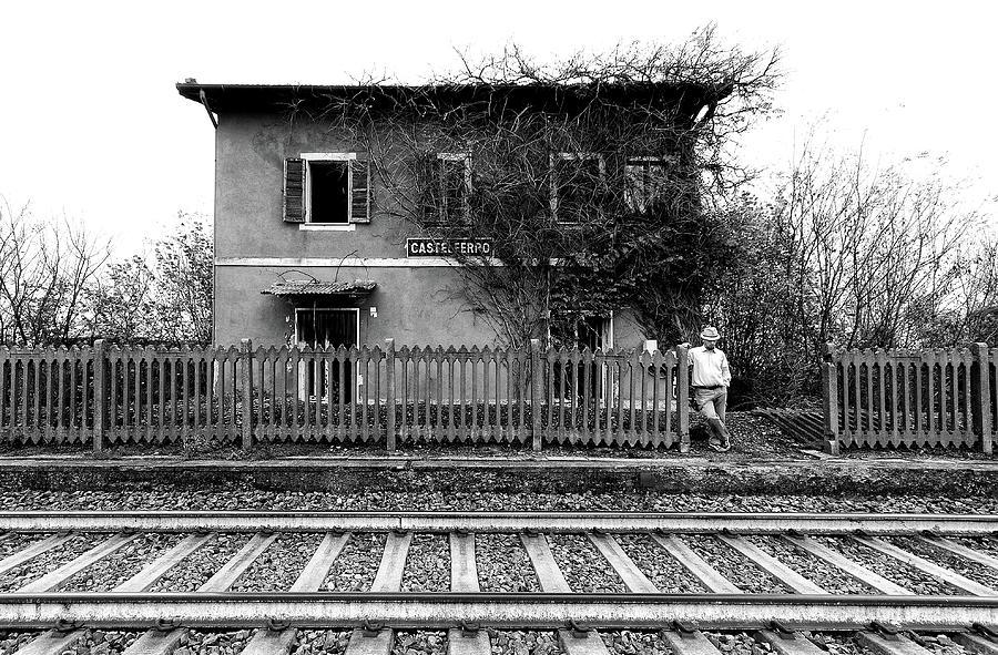 Bw Photograph - The Station Of Castelferro by Carlo Ferrara