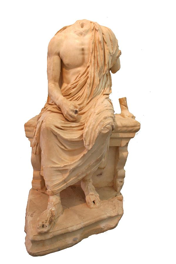 Aphrodisias Photograph - The Statue Of The Unidentified Philosopher by Tracey Harrington-Simpson