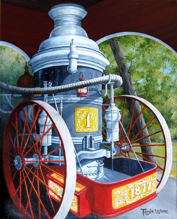 Steam Engine Painting - The Steamer by Tanja Ware