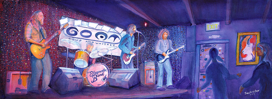 Acrylic Painting - The Steepwater Band by David Sockrider