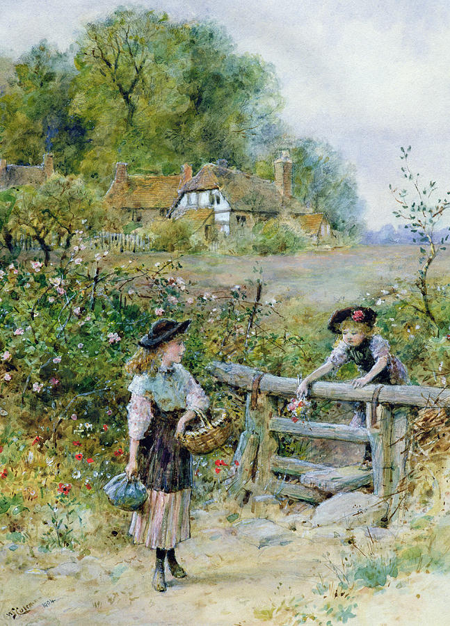 The Stile Painting By William Stephen Coleman