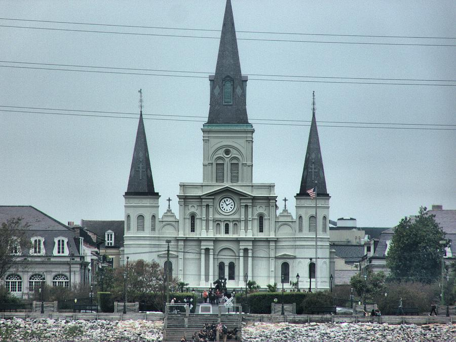 St Louis Cathedral Photograph - The St.louis Cathedral by Anthony Walker Sr
