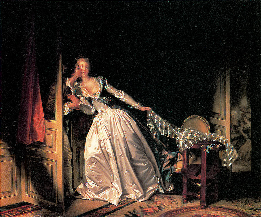 Jean-honore Fragonard Painting - The Stolen Kiss by Jean-Honore Fragonard