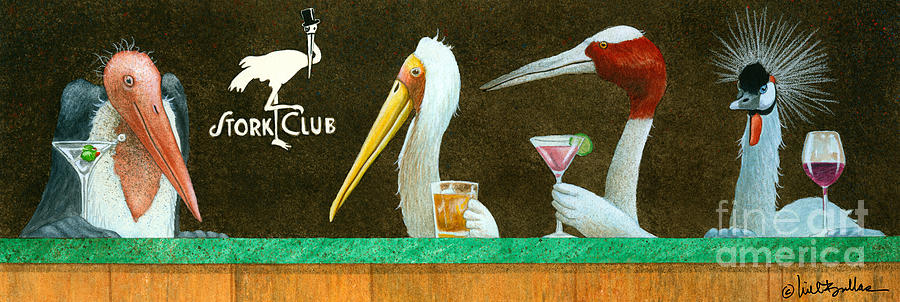Will Bullas Painting - The Stork Club... by Will Bullas