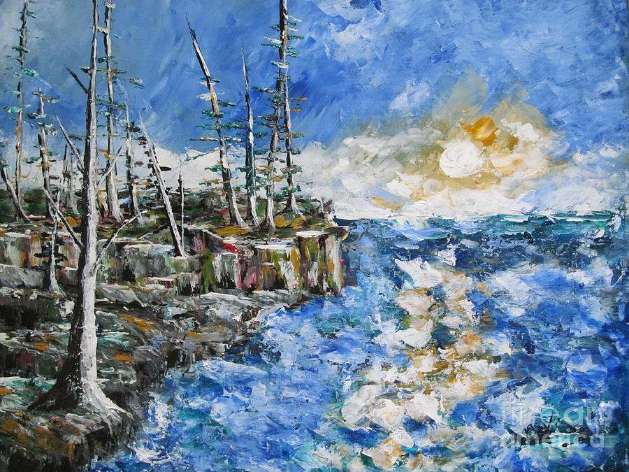 Pallette Knife Painting Painting - The Storm by Beverly Livingstone