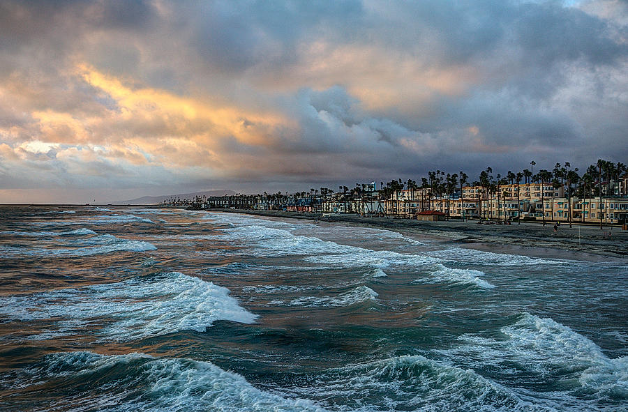 Oceanside Photograph - The Storm Clouds Roll In by Ann Patterson