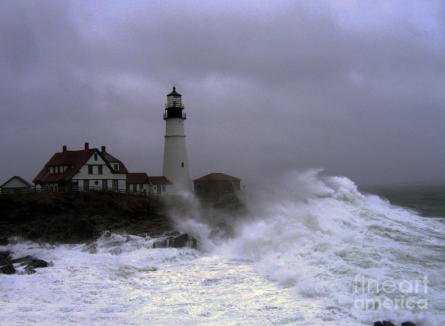 Lighthouse Photograph - The Storm by Lloyd Alexander