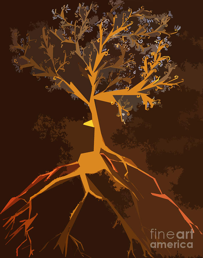 The Stormy Tree Mixed Media