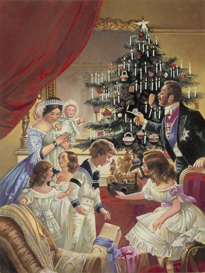 Christmas Tree Painting - The Story Of The Christmas Tree by C L Doughty
