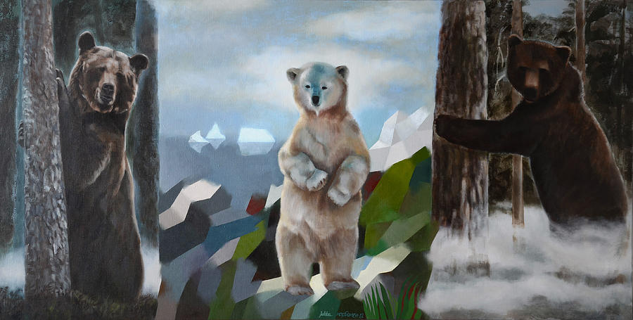 Bear Painting - The Story Of The White Bear by Jukka Nopsanen