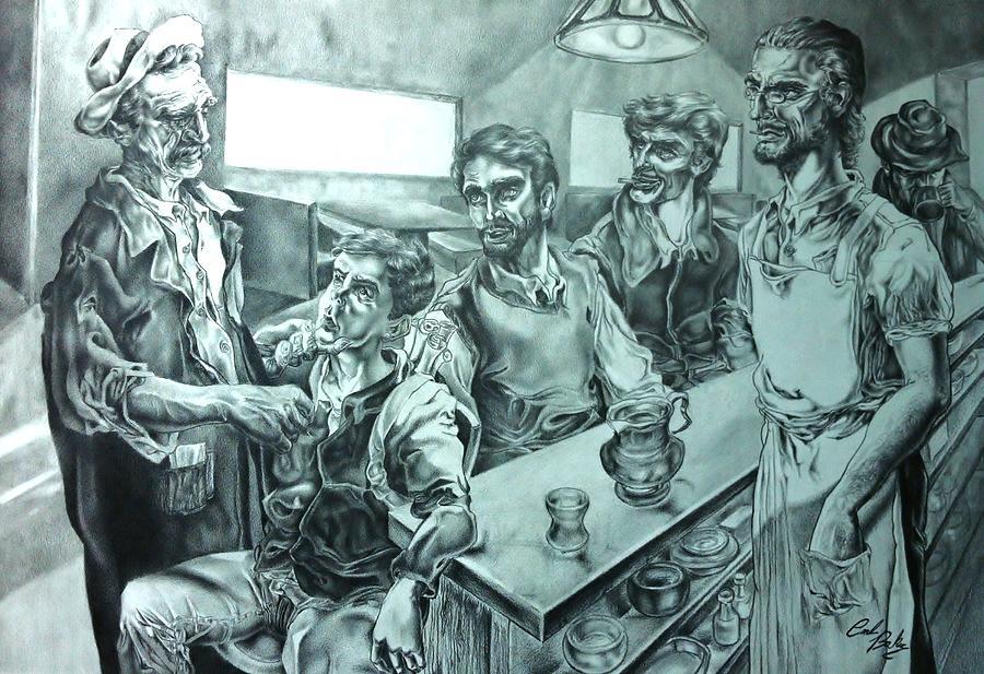 Drawing Drawing - The Strange Elder by Carl Baker