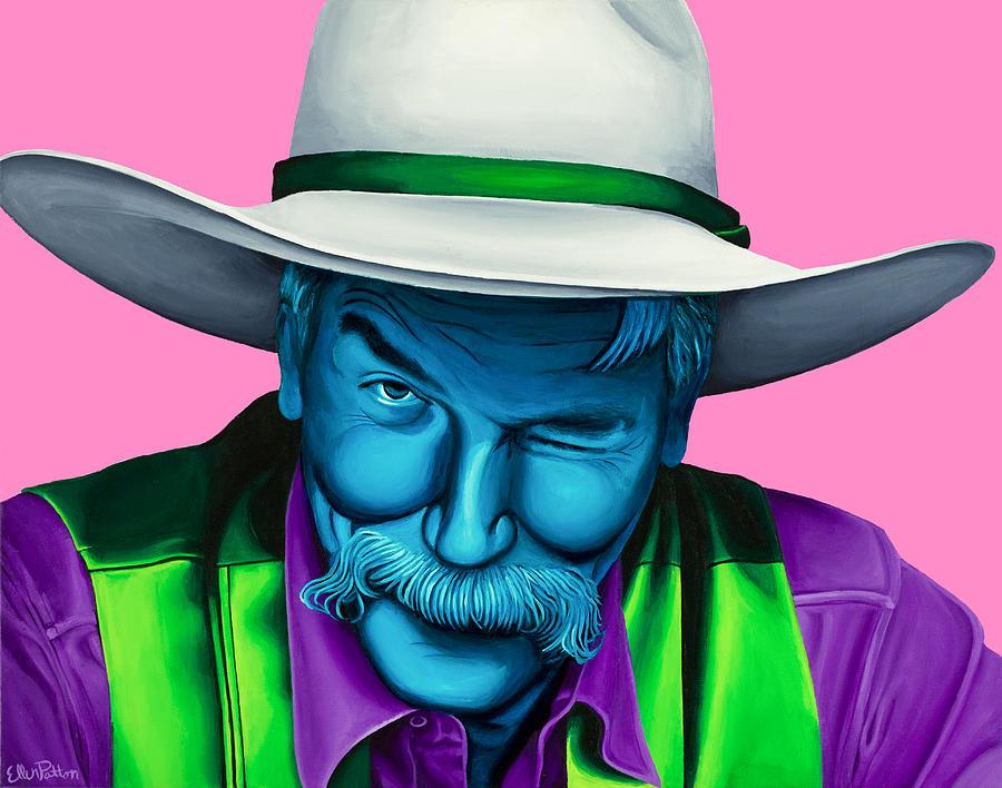 The Big Lebowski Painting - The Stranger- Color Edit- by Ellen Patton